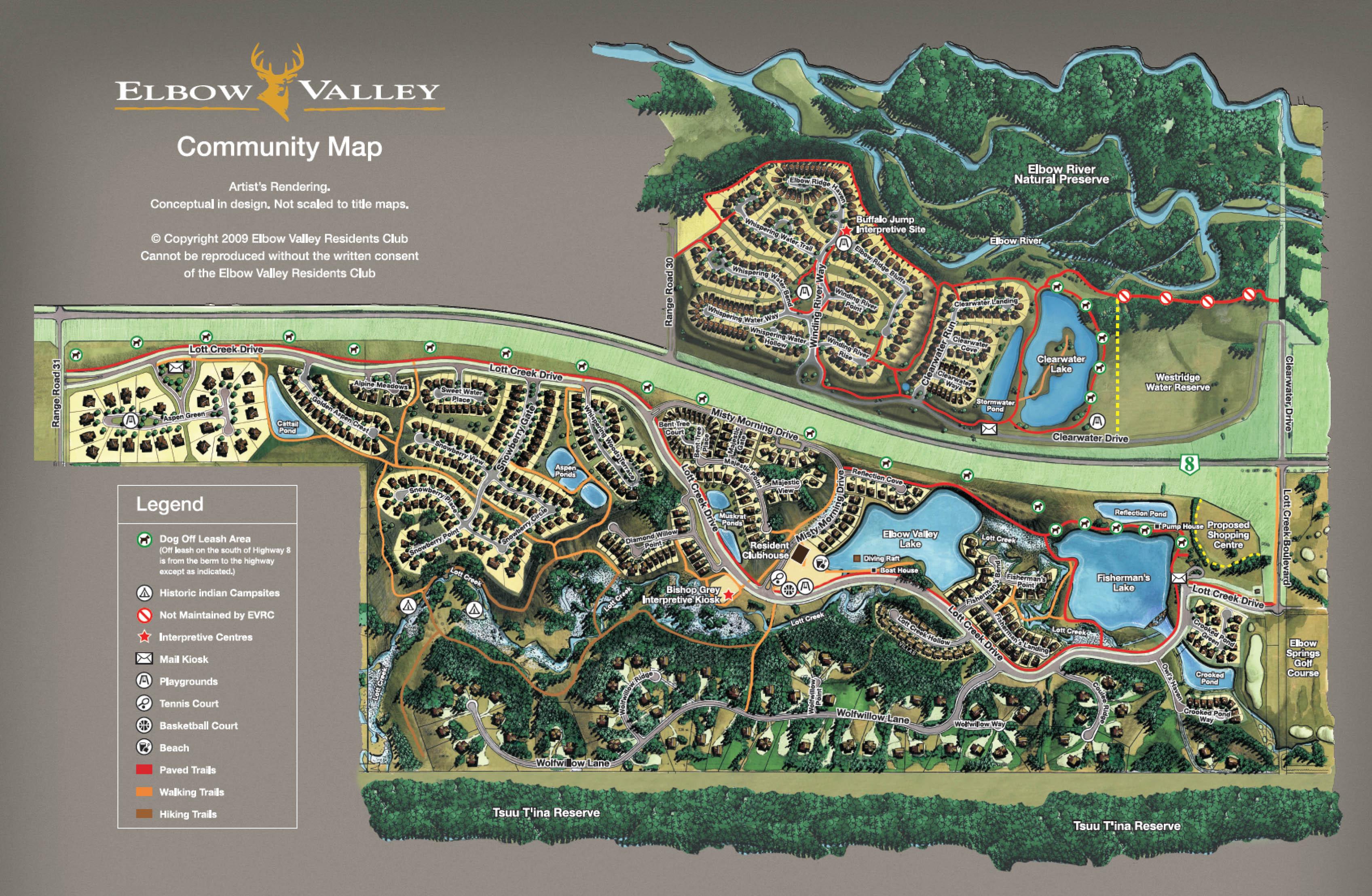Elbow Valley Estates Community Map