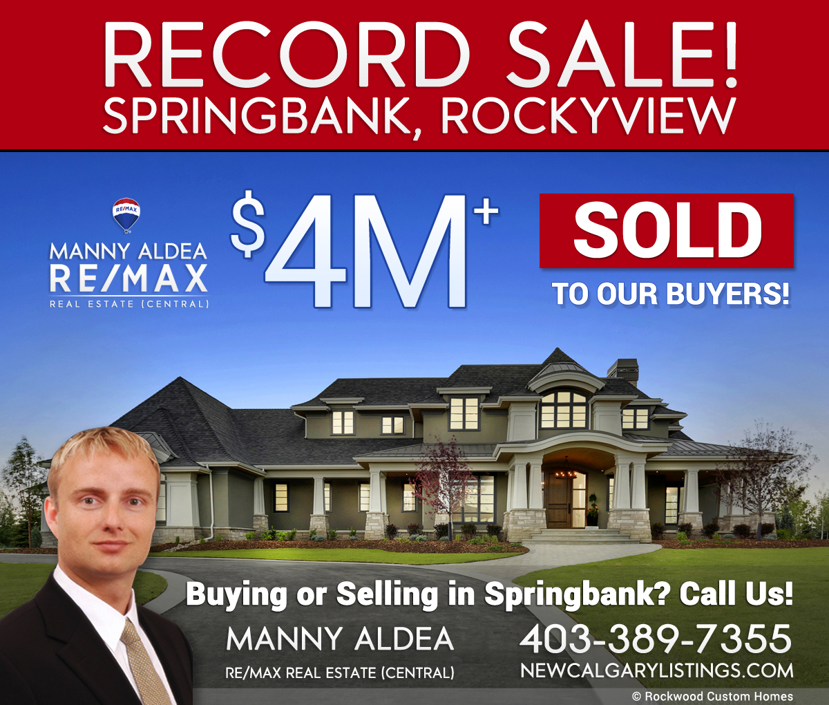 Springbank Acreage Sold - record price