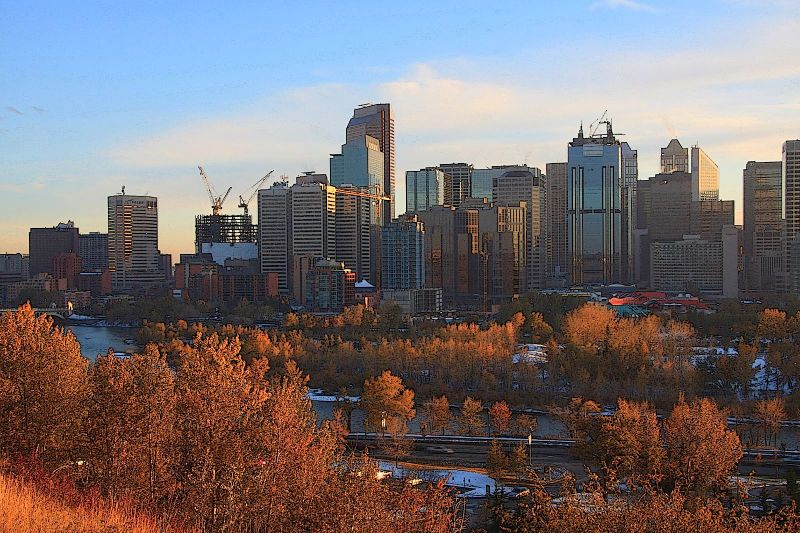A View Of Calgary In Beautiful Colors