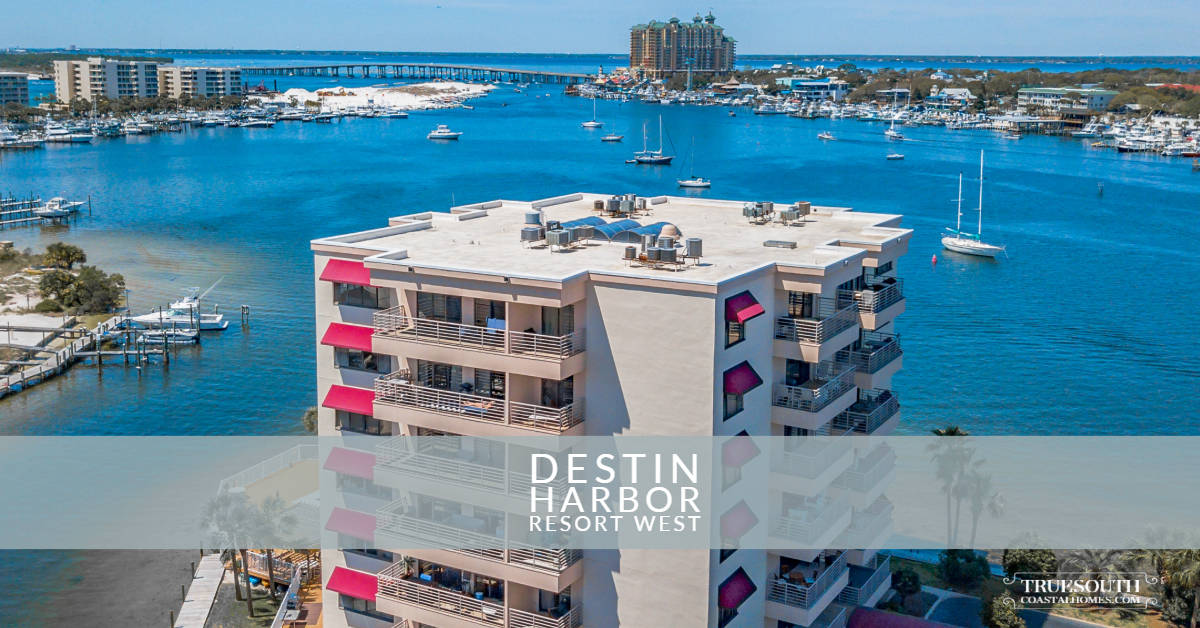 Destin Harbor Resort West Condo Aerial View