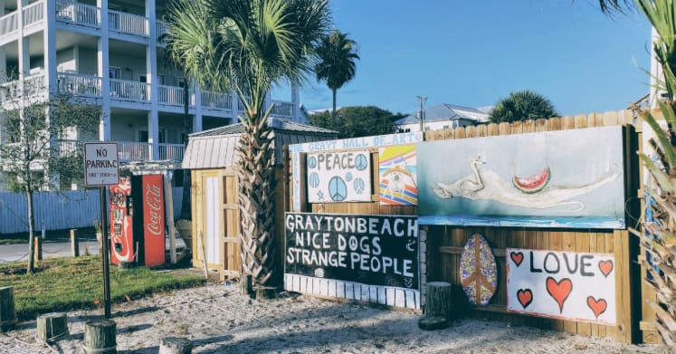 Grayton Beach Street Art