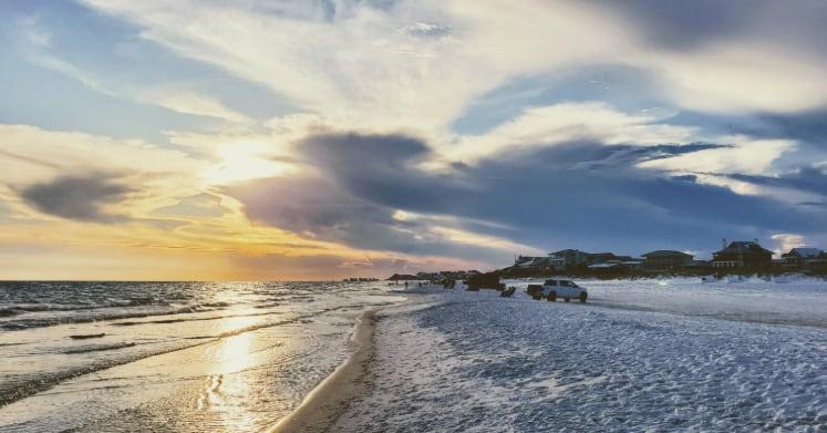 Grayton Beach Sunset Near Turtle Reef