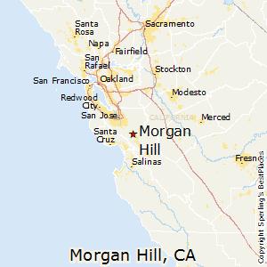 Map of Morgan Hill Ca
