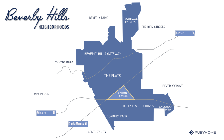 Beverly Hills Neighborhood Map