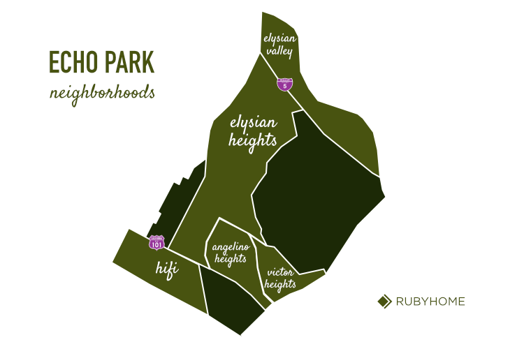 Echo Park Neighborhood Map