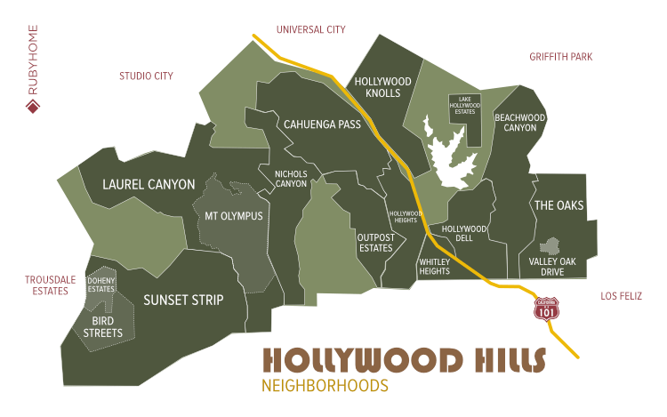 Hollywood Hills Neighborhood Map