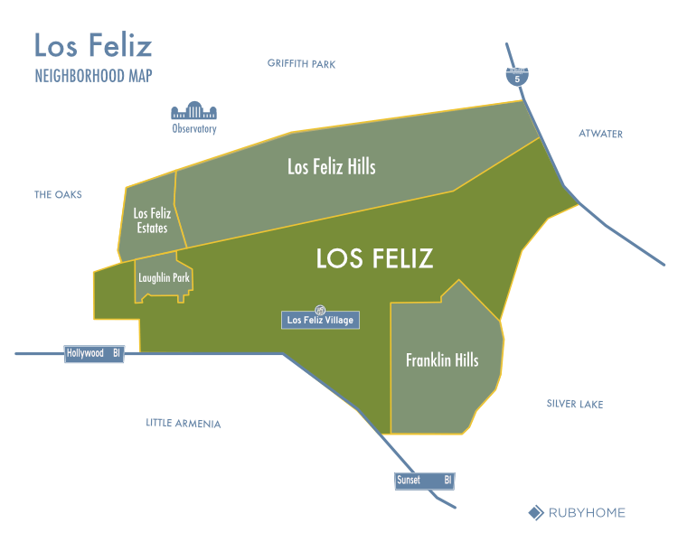 Los Feliz Neighborhood Map