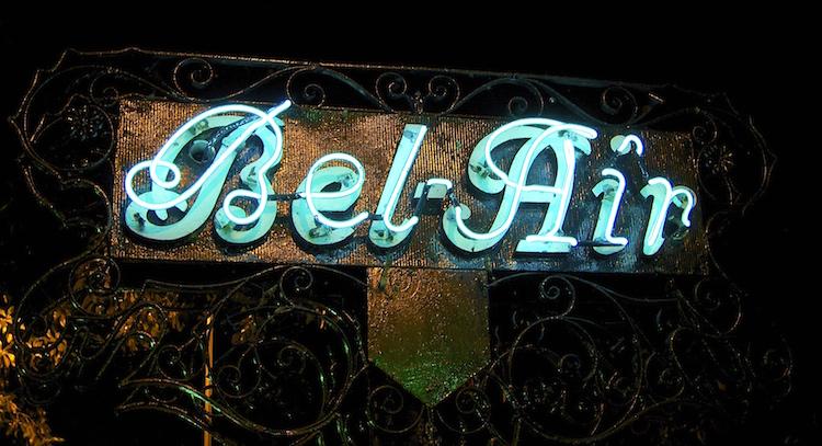 Bel Air Gate Sign