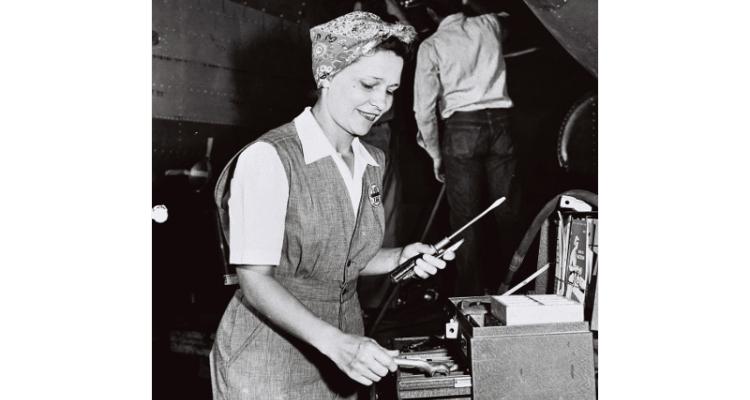 Douglas Aircraft Worker WII