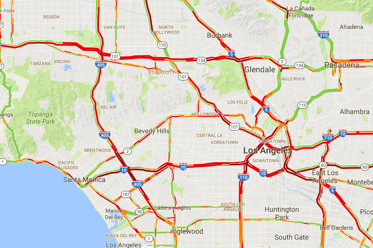 La Freeway Traffic Map.Things To Know Before Moving To Los Angeles 2019 Guide