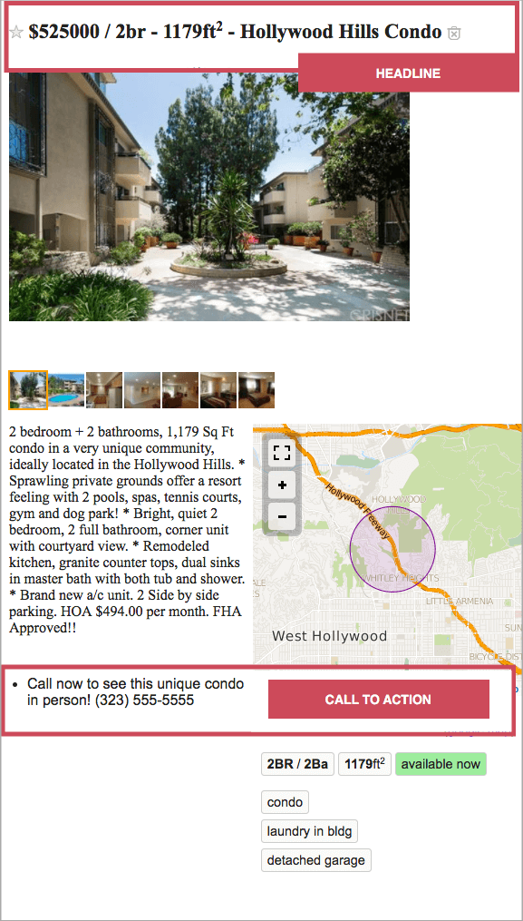 real estate advertisement example