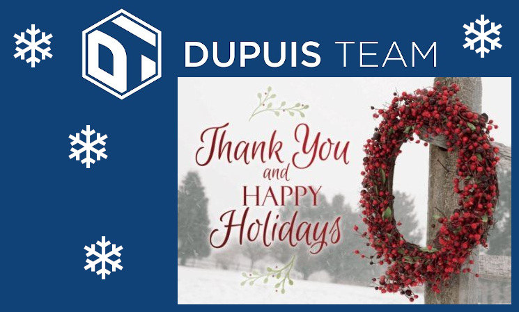Happy Holidays from Dupuis Team