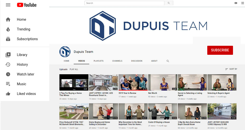Dupuis Team You Tube Channel