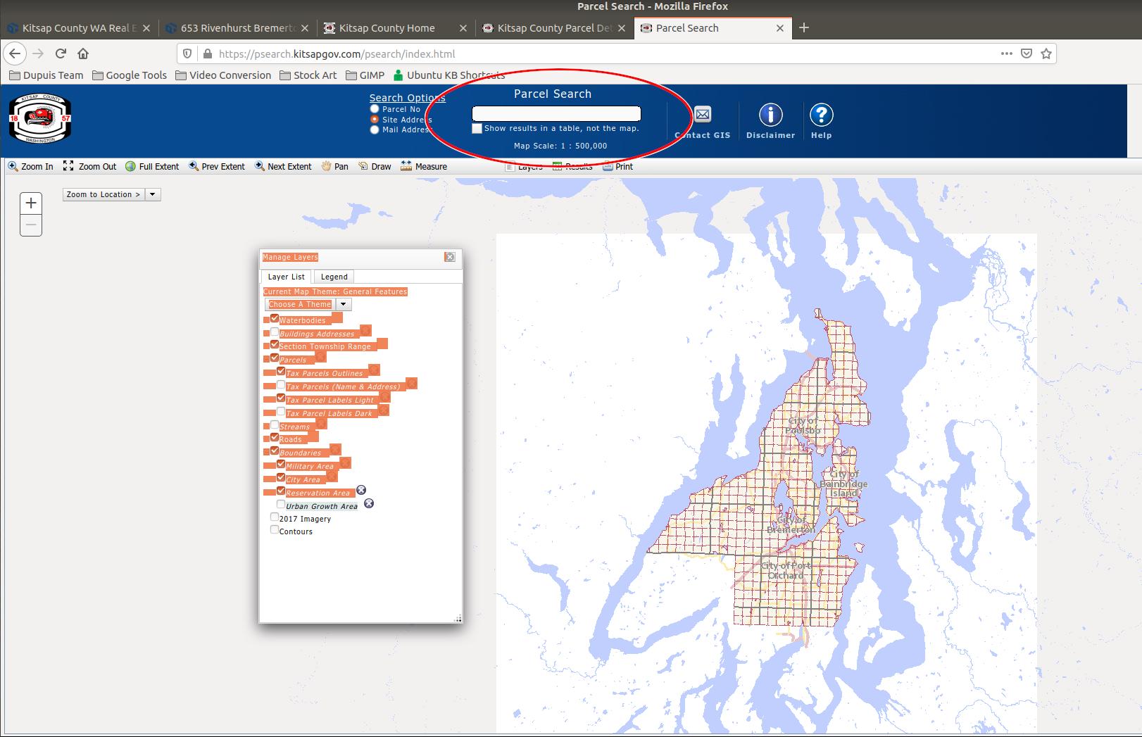 Kitsap County Map Based Parcel Search