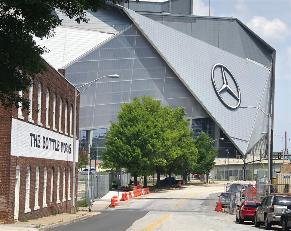 Nearby Mercedez Benz Stadium