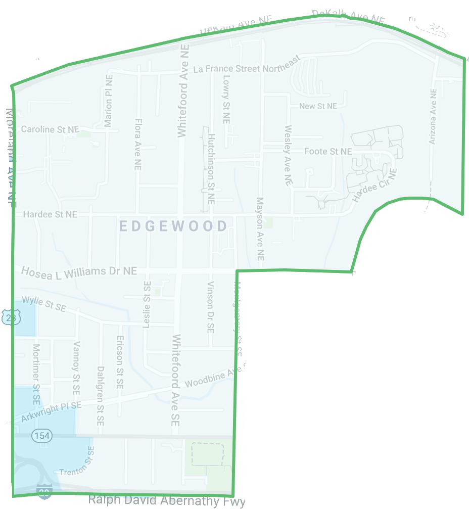 Edgewood Crime heat map