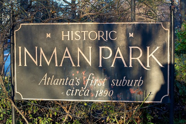 Inman Park Sign
