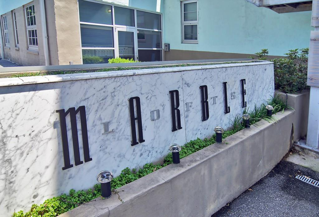 Marble Lofts sign