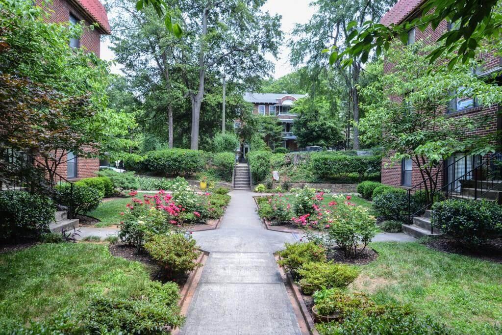 Melrose Park courtyard
