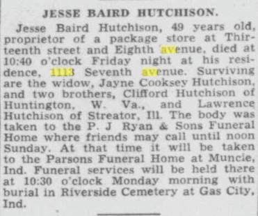 Historical Newspaper Obituary