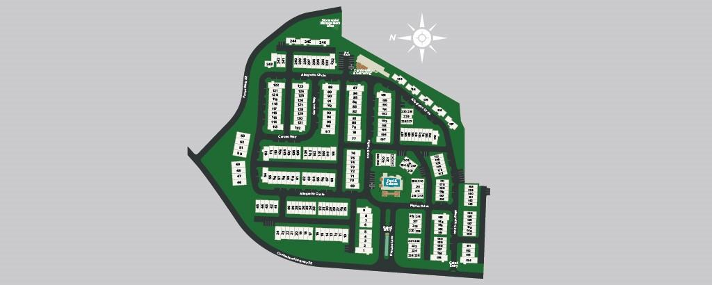Map plan of community