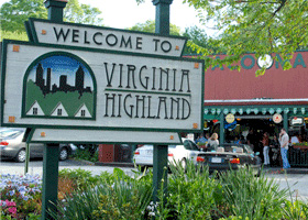 Virginia-Highland Welcome Sign