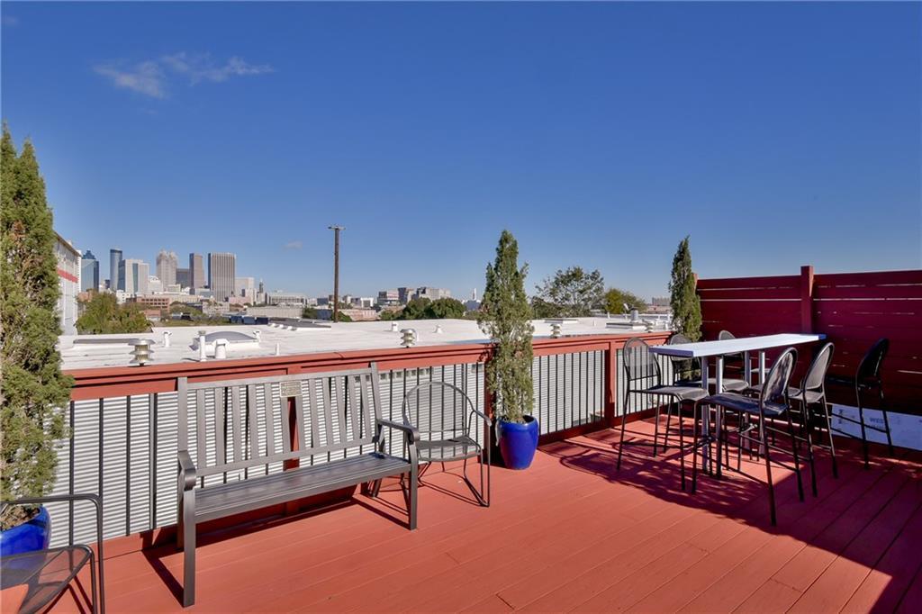 Private patio deck