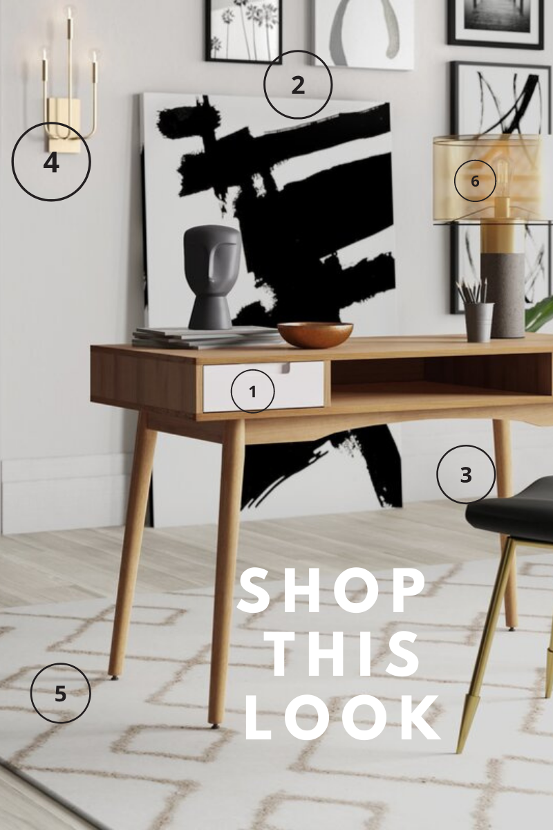 Shop this mid century design look for your home office redesign
