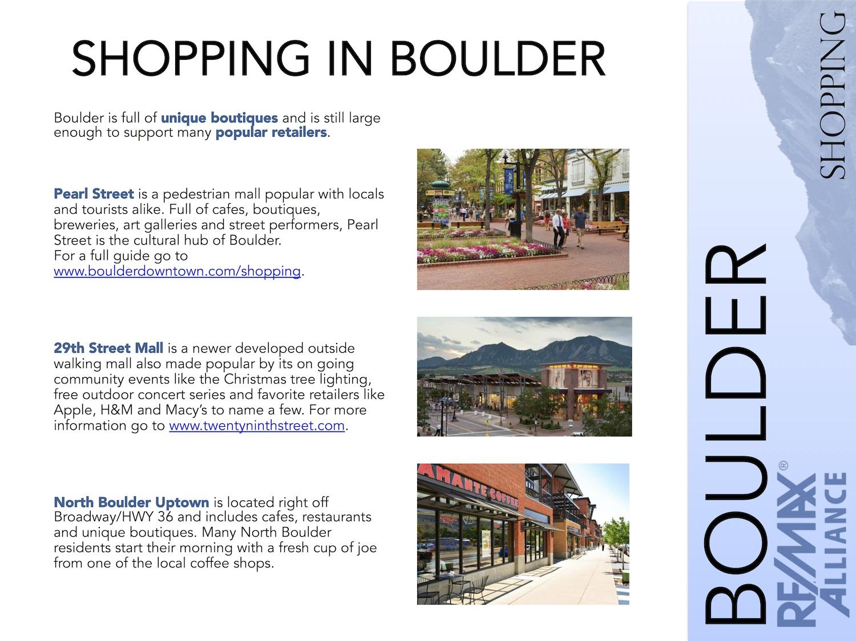 Boulder Shopping