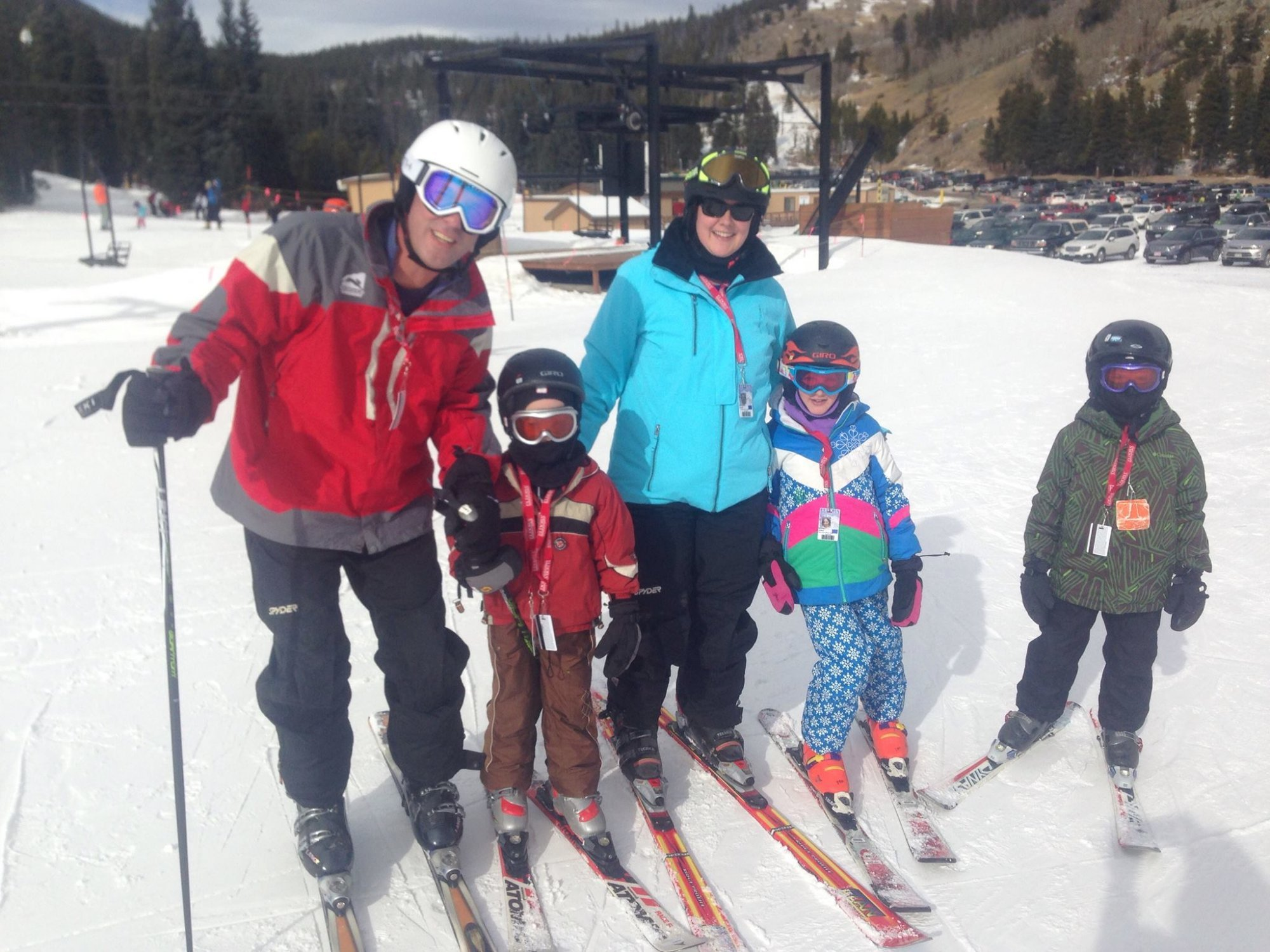 Kids skiing in Colorado