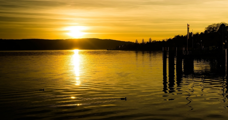 Lake Norman Water At Sunrise