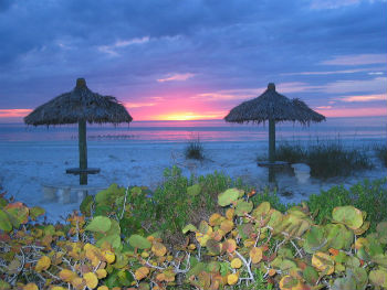 Sunset Beach in Anna Maria, FL