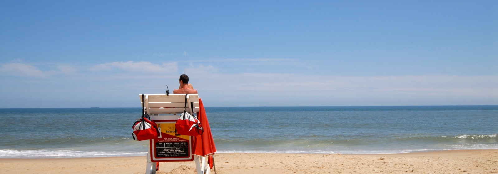 Lifeguard on duty in Rehoboth Beach, DE