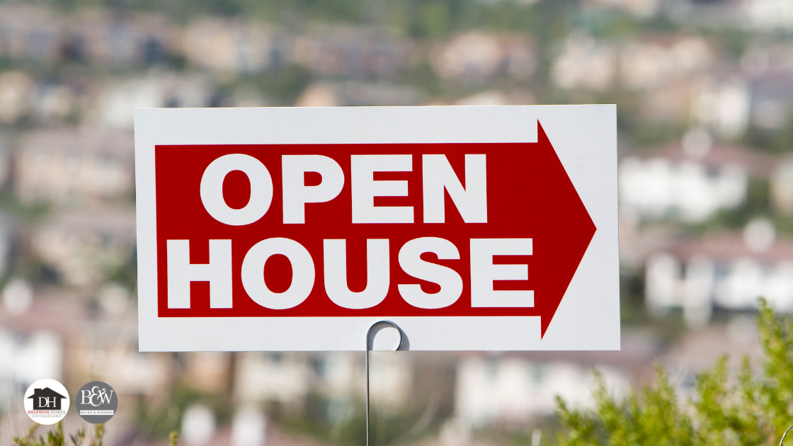 Find an open house by going to a nearby store and looking at their bulletin boards for flyers advertising properties for sale