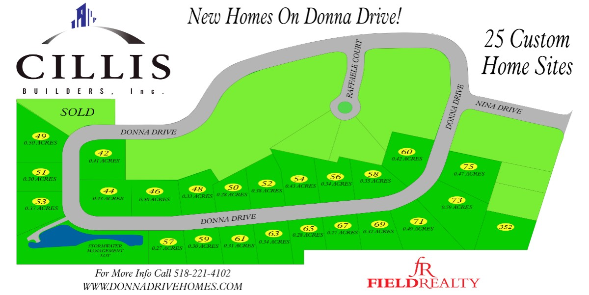 Donna Drive Homes Map