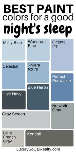 Paint Colors Bedroom//Bedroom Master//Bedroom Ideas//Bedroom Decor//Paint Color For Home//What are the best blue paint colors for a good night's sleep? by Joy Bender Luxury Real Estate Agent Compass San Diego REALTOR&reg #bedroomgoals #bedroomideas #bedroomdesign #bedroomdecor #paint #color
