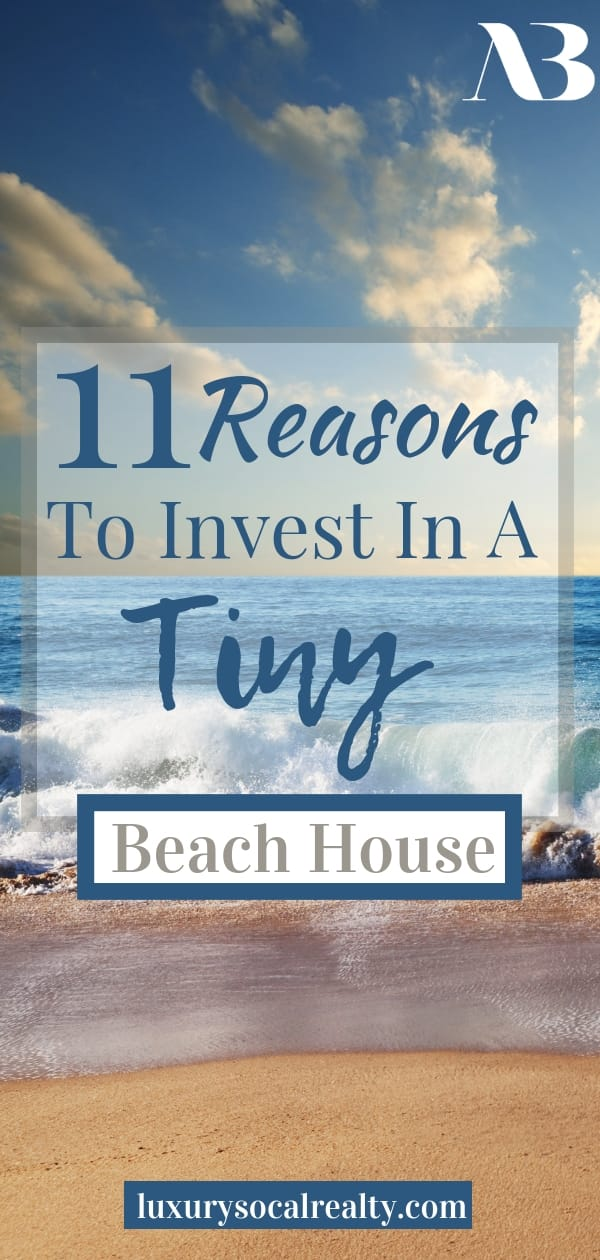Small Beach House//Small Beach House Interior//Small Beach House Exterior//Small Beach House Decor//Small Beach House Tiny Cottages//Small Beach House Surf Shack//Small Beach House Seaside//Small Beach House Ideas//Discover 11 Reasons to Invest in a Tiny Beach House curated by Joy Bender Real Estate Agent Compass San Diego REALTOR® #beachhousedecor #beachdecor #tinyhouse #tinyhouseliving