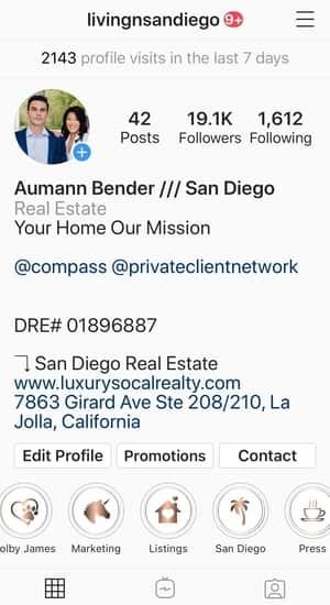Real Estate Agent Instagram