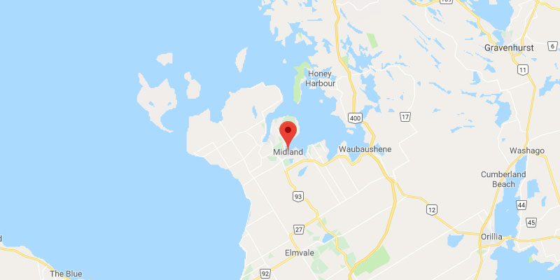 Midland Ontario Map