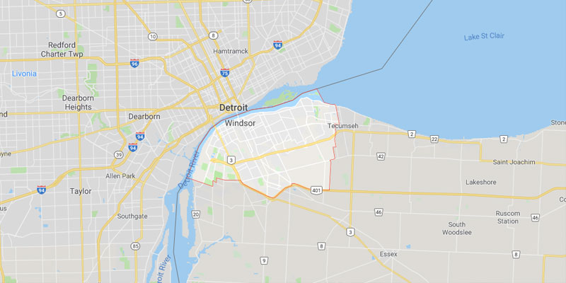 Windsor Ontario Map