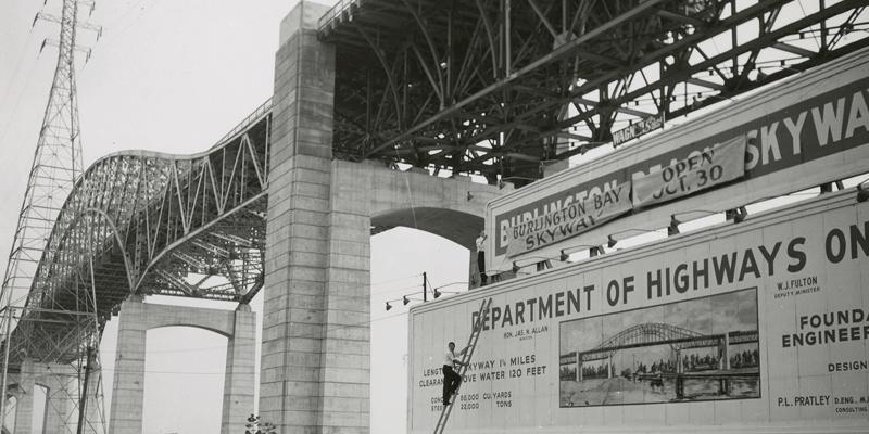 Burlington skyway 1958