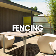 midcentury modern fence