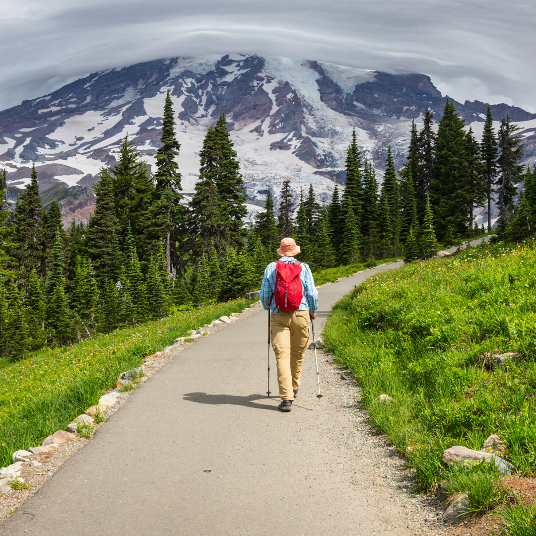 Day hike near Mount Rainier
