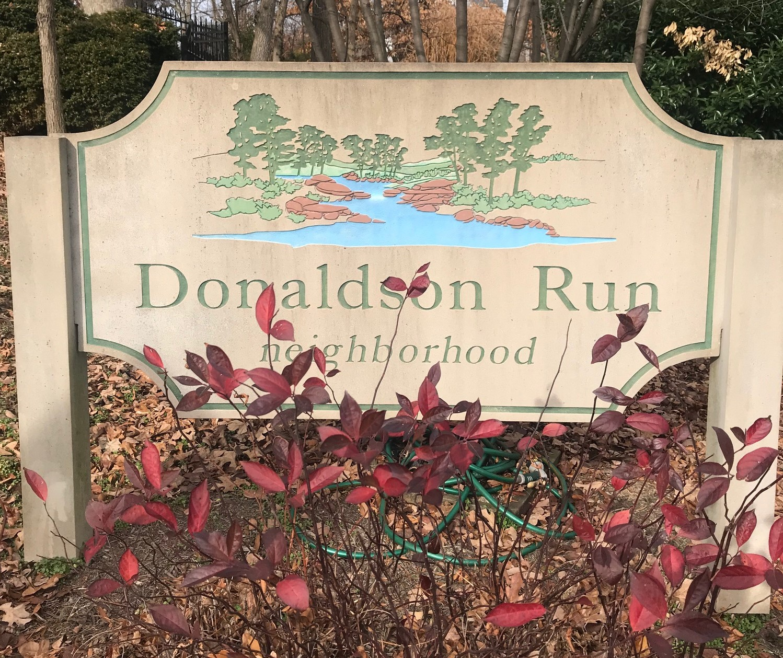 Donaldson Run Community Sign