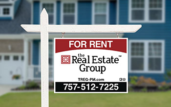 Virginia Beach Property Management Services with For Rent Sign in Yard