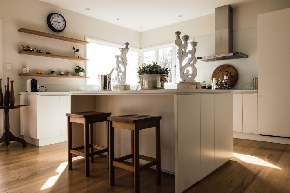Warm picture of a secondary suite kitchen