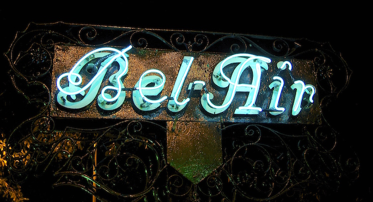 Bel Air Gate Sign