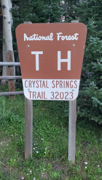 National Forest Trail Sign for Crystal Springs