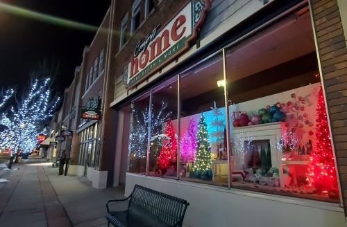 Christmas lights on Cedar City's historic Main Street