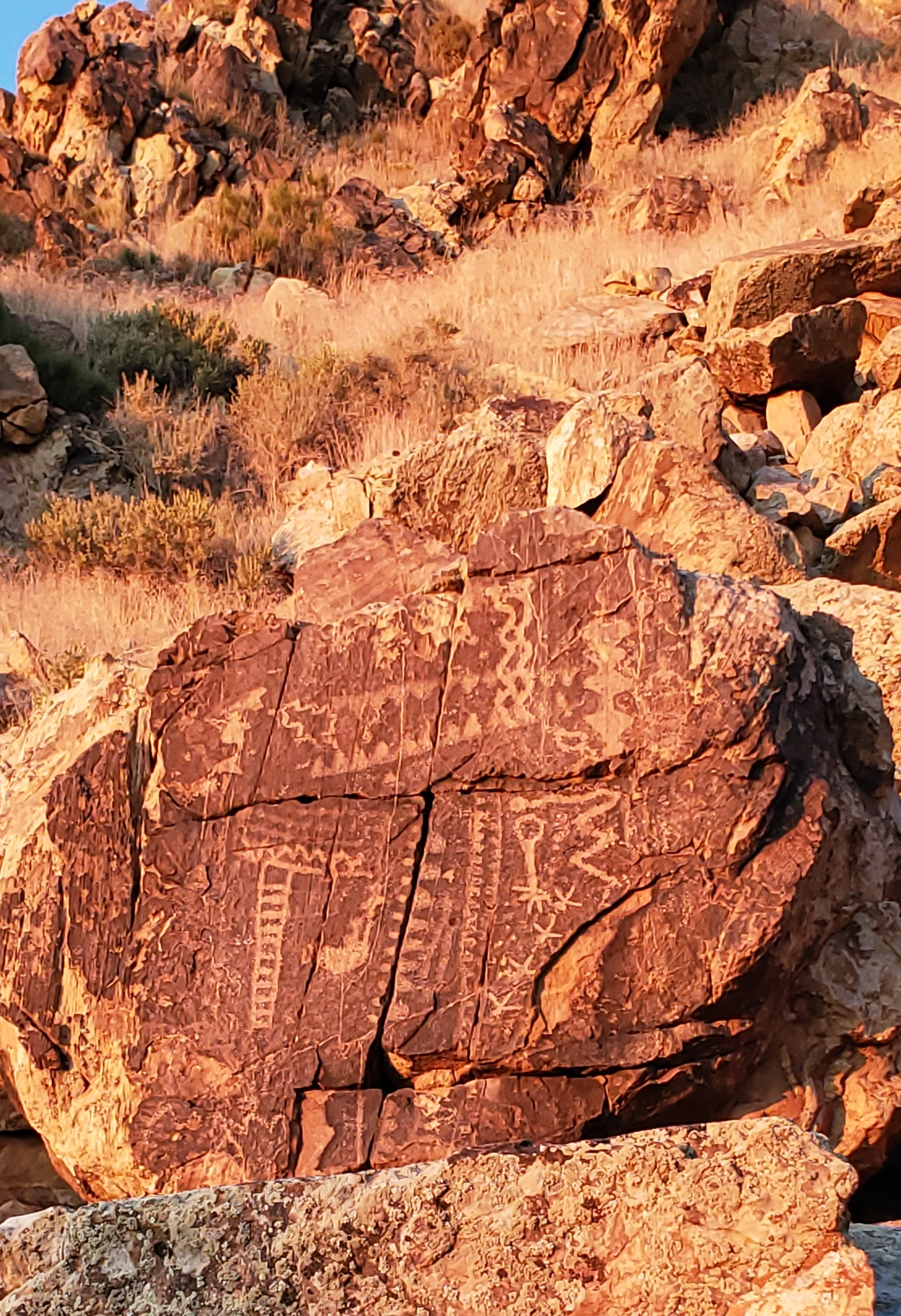 Ancient Native American Petroglyphs at Parowan Gap, Utah